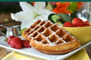 Quartered waffles
