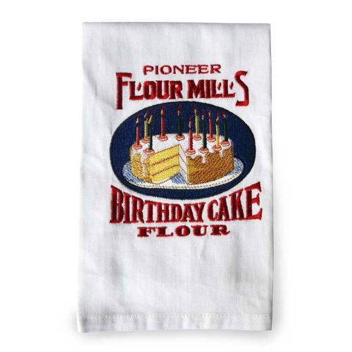 pioneer_flour_vintage_birthday_cake_logo_twill_dish_towel