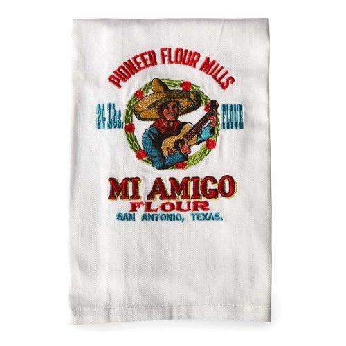 pioneer_flour_vintage_mi_amigo_logo_waffle_weave_dish_towel